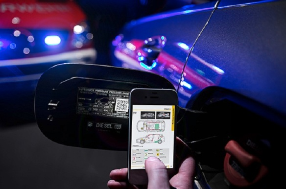 QR-Code Rettungskarte zur Bergung von Unfallopfern