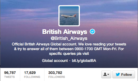 British Airways Twitter